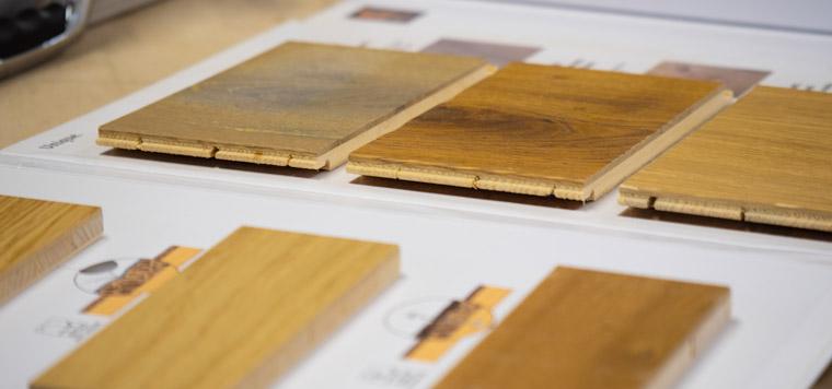Verschiedene Holzarten bei der Schreinerei Bachinger